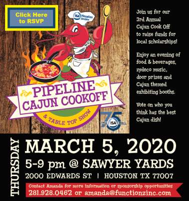 Join DMS at the ISA Pipeline Cajun Cookoff